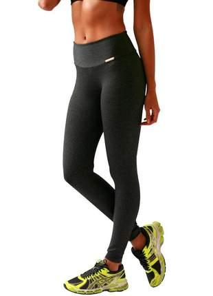 Legging feminina plus size cinza/mescla escura