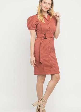 Vestido cinto rosê tam.: p _ 38