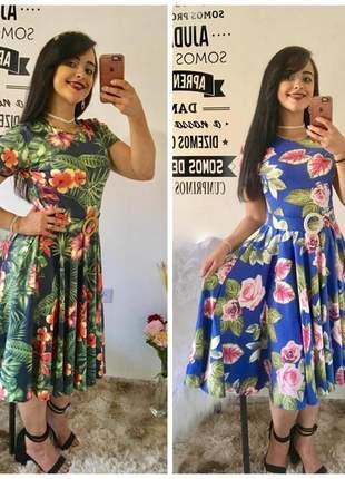 Kit 2 vestidos gode midi moda evangelica cristã culto social