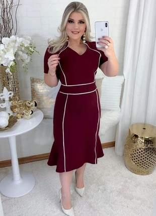 Vestido moda evangélica manguinha senhoras chique convidadas