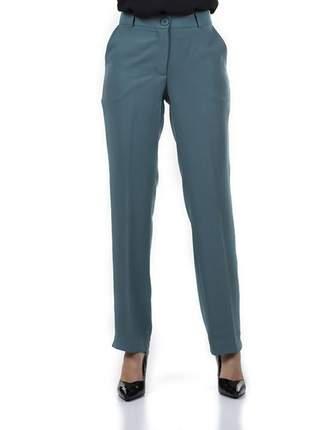 Calça feminina social lisa com  bolso verde - 05924