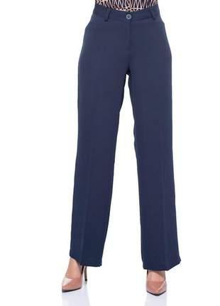 Calça pantalona social com passante marinho - 05989