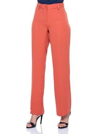 Calça pantalona social com passante tijolo - 05989