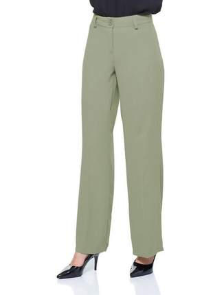 Calça pantalona social com passante verde - 05989
