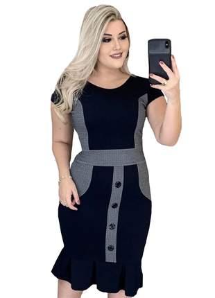 Vestidos femininos moda evangelica bicolor justo social moderno