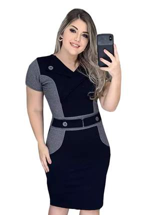 Vestido midi social moda evangelica casual tubinho moderno