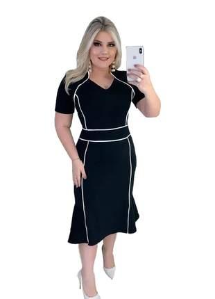 Vestido midi moda evangelica tubinho eventos festa luxo