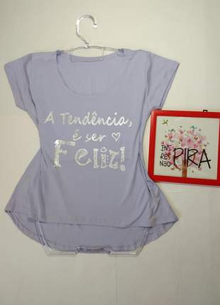 Blusa feminina t shirt camiseta blusinha regata manga curta