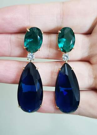 Brinco azul safira