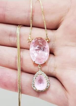 Colar rosa claro