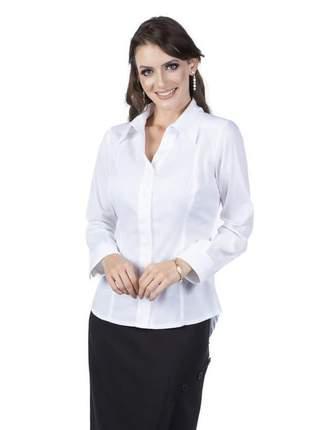 Camisa social branca feminina manga longa - 05933