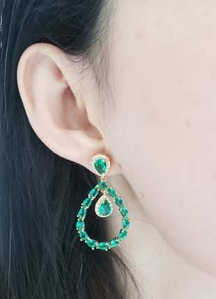 Brinco verde esmeralda