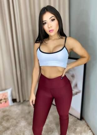 Calça legging cintura alta