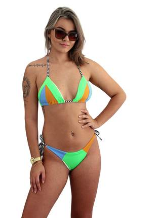 Biquini moda praia 2021 piscina verão fio dental tendencia neon bojo estruturado pronta