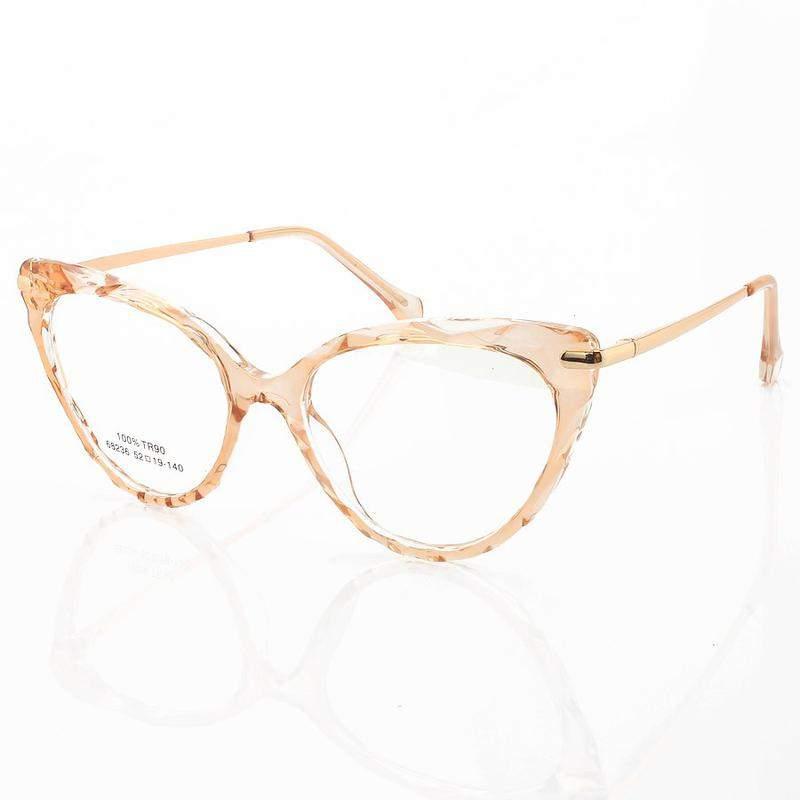 Armação de óculos gatinho lux 68236 creme translúcido
