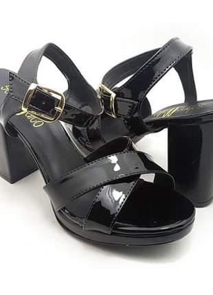 Sandália feminina meia pata x  preta