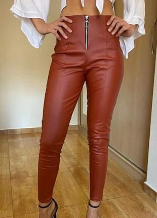 Calça feminina cintura alta skinny bengaline