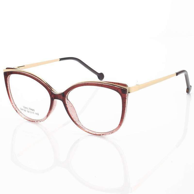 Armação de óculos gatinho alita 68199 vinho degrade