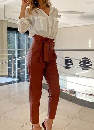 Calça feminina cintura alta skinny bengaline kim