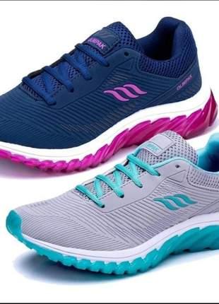 Kit 2 pares tênis feminino esportivo para caminhada academia