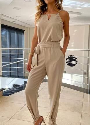 Conjunto feminino blusa blusinha e calça