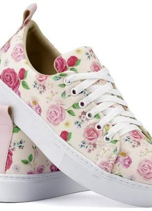 Tênis casual floral linha primavera