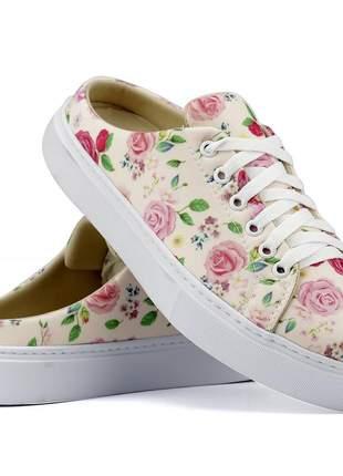 Mule rosa floral linha primavera