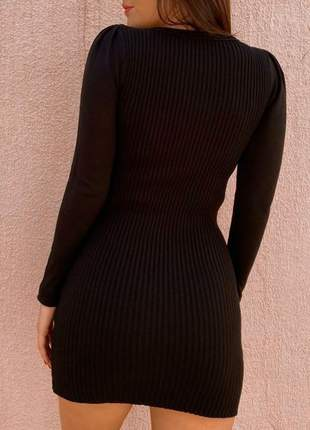 Vestido curto justo midi feminino de festa balada barato manga longa basico tubinho