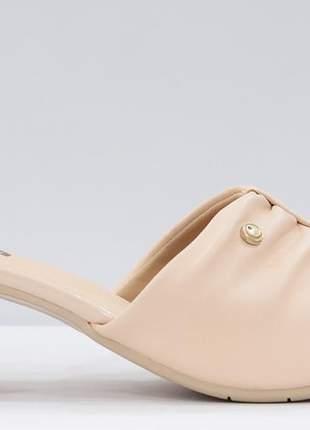 Tamanco feminino salto grosso comfortflex  confortável