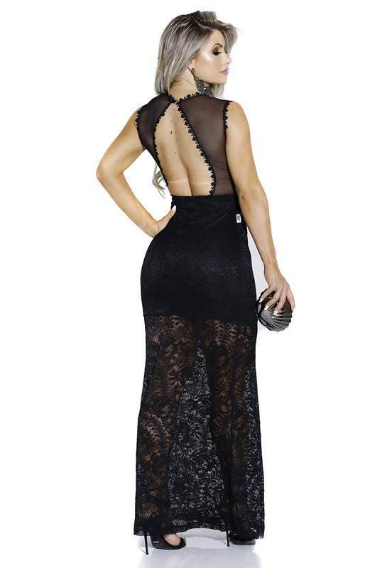 c3014343fb ... Vestido longo zigma em renda para festas madrinhas casamento3 ...