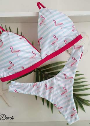 Biquíni retro asa delta - flamingo - soulbeach