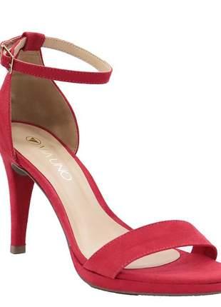 Sandália feminina meia pata casual vermelho