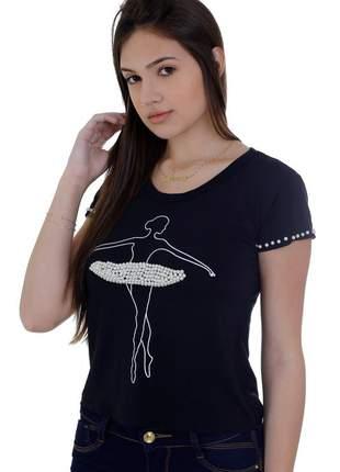 Blusa t-shirts zigma bailarina bordada