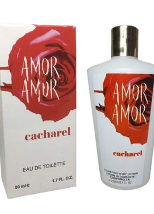 Kit hidratante + perfume amor amor importado