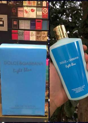 Kit hidratante + perfume dolce gabbana importado