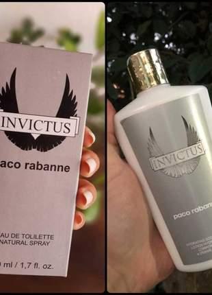 Kit hidratante + perfume invictus importado