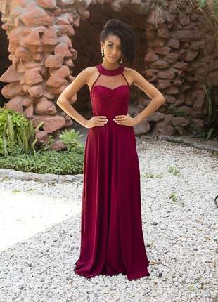 Vestido de festa longo moda casamento aniver 15 anos bodas pronta entrega gestante brilho