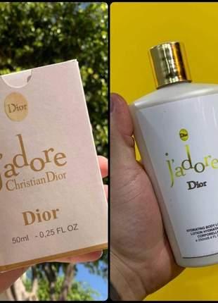 Kit hidratante + perfume jadore dior importado