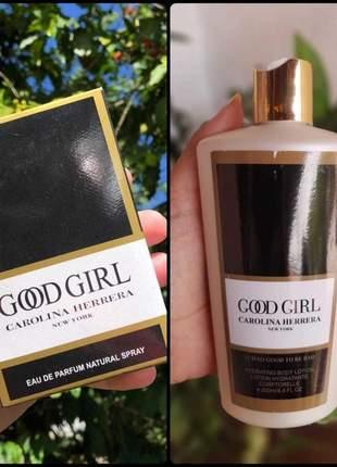 Kit hidratante + perfume good girl importado