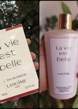 Kit hidratante + perfume la vie est belle importado
