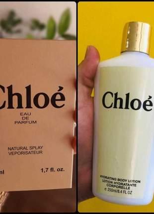 Kit hidratante + perfume chloé importado