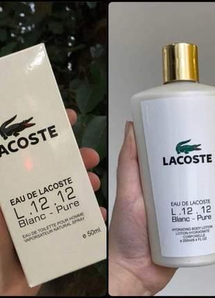 Kit hidratante + perfume lacoste importado