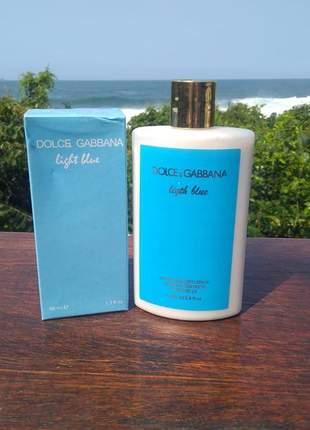 Kit hidratante + perfume dolce & gabbana light blue importado