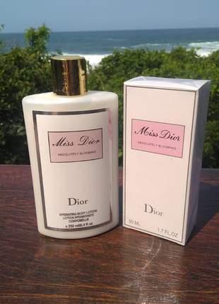 Kit hidratante + perfume miss dior importado