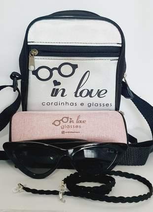 Kit presente óculos solar inlove retrô