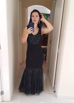 Vestido sereia preto