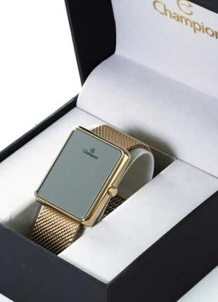 Relógio feminino champion digital espelhado original