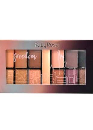 Paleta de sombras freedom ruby rose
