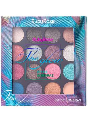 Paleta de sombras the glow ruby rose