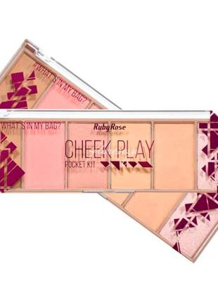 Paleta 6 cores cheek play ruby rose